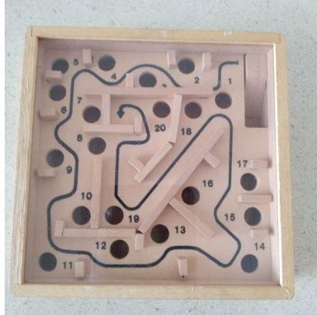 """Jogo em Madeira Vintage """"Labirinto"""""""