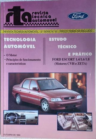 Manual mecânico de oficina Ford Escort 1.4 1.6 1.8 Motores CVH e ZETA