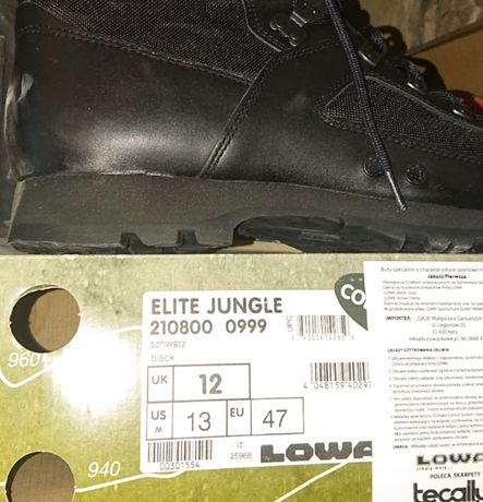 Buty Lowa Elite Jungle rozm. 47