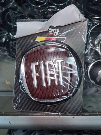 Эмблема значок на капот, багажник Fiat Doblo, Фиат Добло 95 мм красный