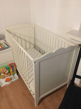 Łóżeczko niemowlęce Ikea Hensvik+materac