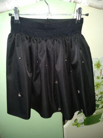 Черная нарядная юбка для школы школьная одежда. 40 грн