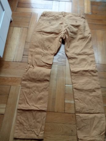 spodnie musztardowe , slim fit a la jeans KIABI