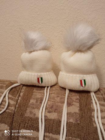 Шапки теплые для двойни