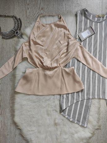 бежевая блуза розовый кроп топ атласный шелковая Zara открытой спина