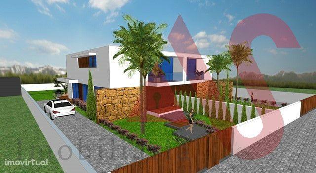 Lote com projeto aprovado para construção de moradia T3+1 em Remelhe,