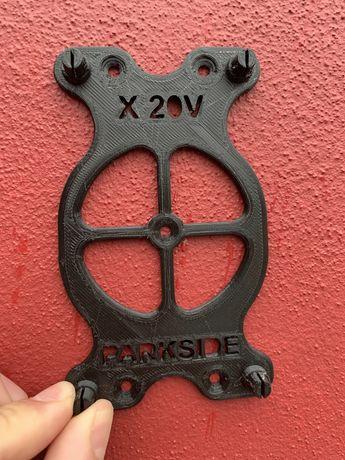 Suporte de parede para carregador Parkside X 20V