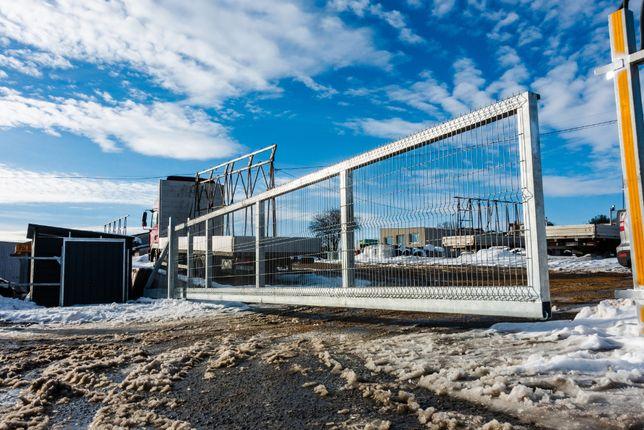Brama przesuwna przemysłowa panelowa samonośna 12m zestaw + DOSTAWA