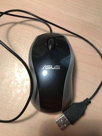 Мини мышь для ноутбука проводная Logitech M-UAG120