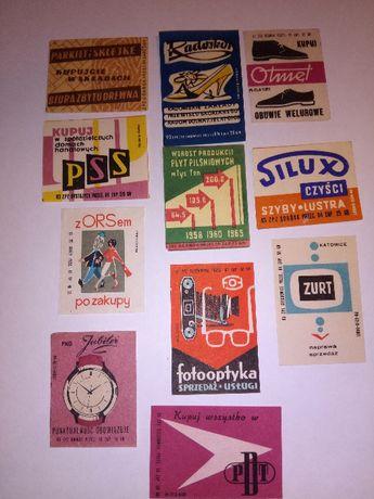 etykiety zapałczane,zapałkowe różne,reklamowe