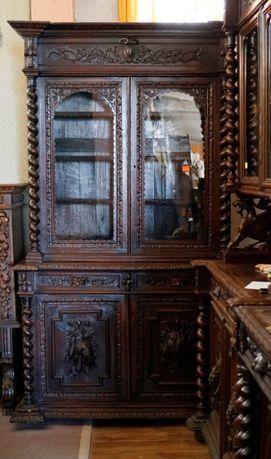 Kredens rzeźbiony myśliwski eklektyczny | Antyki Stylowy Węgrów