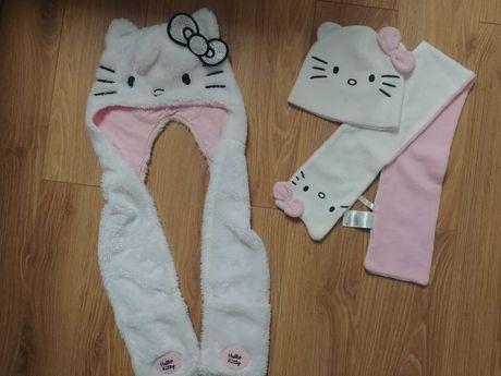Jak nowa Hello Kitty czapka szalik komplet dla dziewczynki 104 128