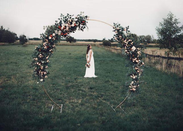 Koło Kwiatowe, ścianka - Dekoracja Ślubna