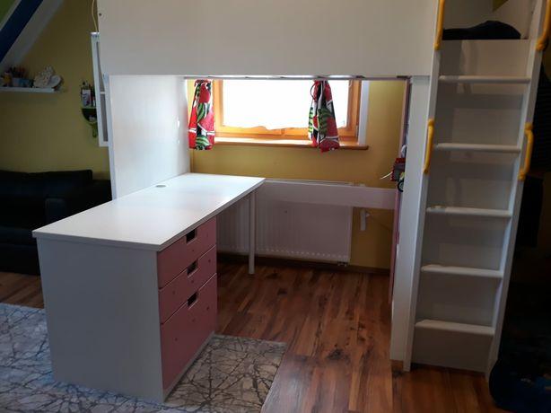 Łóżko piętrowe + biurko Ikea SMASTAD