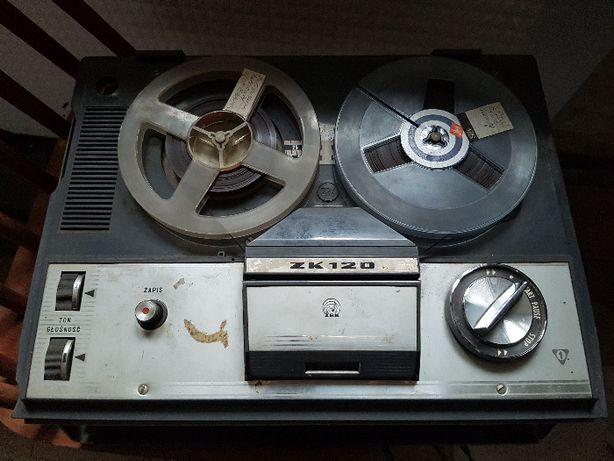 Magnetofon szpulowy Unitra (Grundig) ZK 120 na chodzie