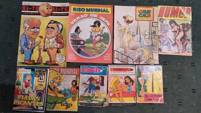 Lote 15 revistas Humor e Cartoons