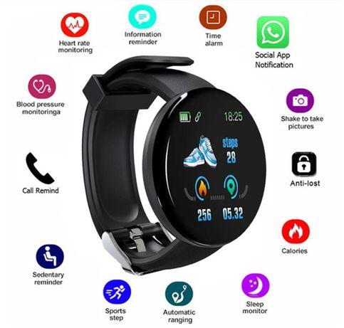D18 Relógio Inteligente Tactil UNISEXO