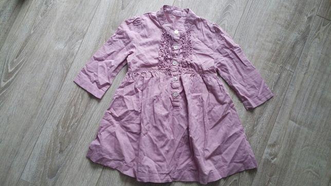 Sukienka tunika prenceska rozmiar 98 stan idealny jak nowa z falbanka