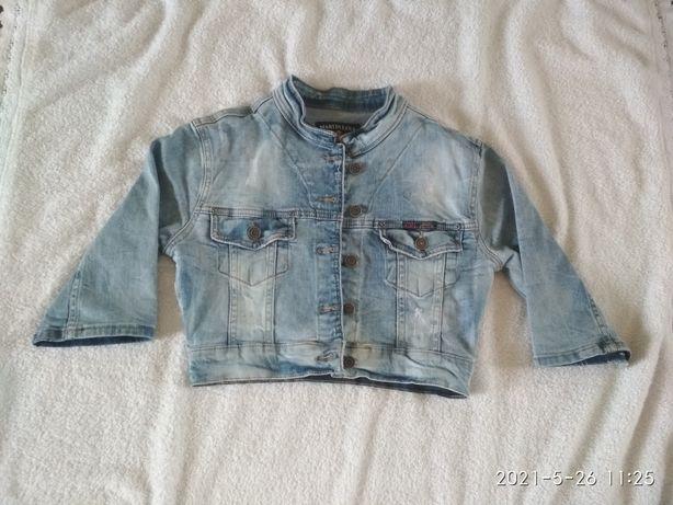 Джинсовый укороченный пиджак
