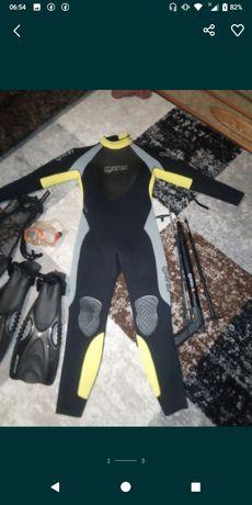 Полный комплект для подводной охоты.