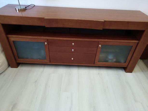 Conjunto de 3 móveis em cerejeira (aparador, consola e mesa de centro)