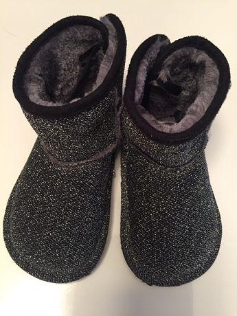 Buty buciki śniegowce ocieplane dziecięce 23 H&M jak nowe