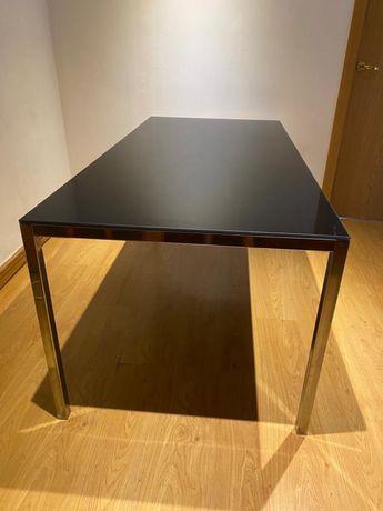 Mesa de jantar ou escritório vidro/inox