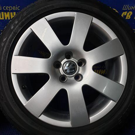 Диски 5x112 R18 Volkswagen Phaeton Tiguan Passat з шинами Bridgestone