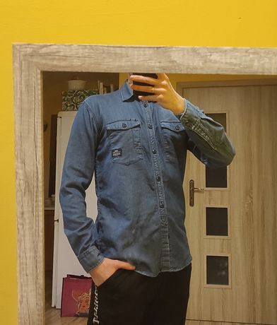 Męska jeansowa koszula roz. M dżinsowa
