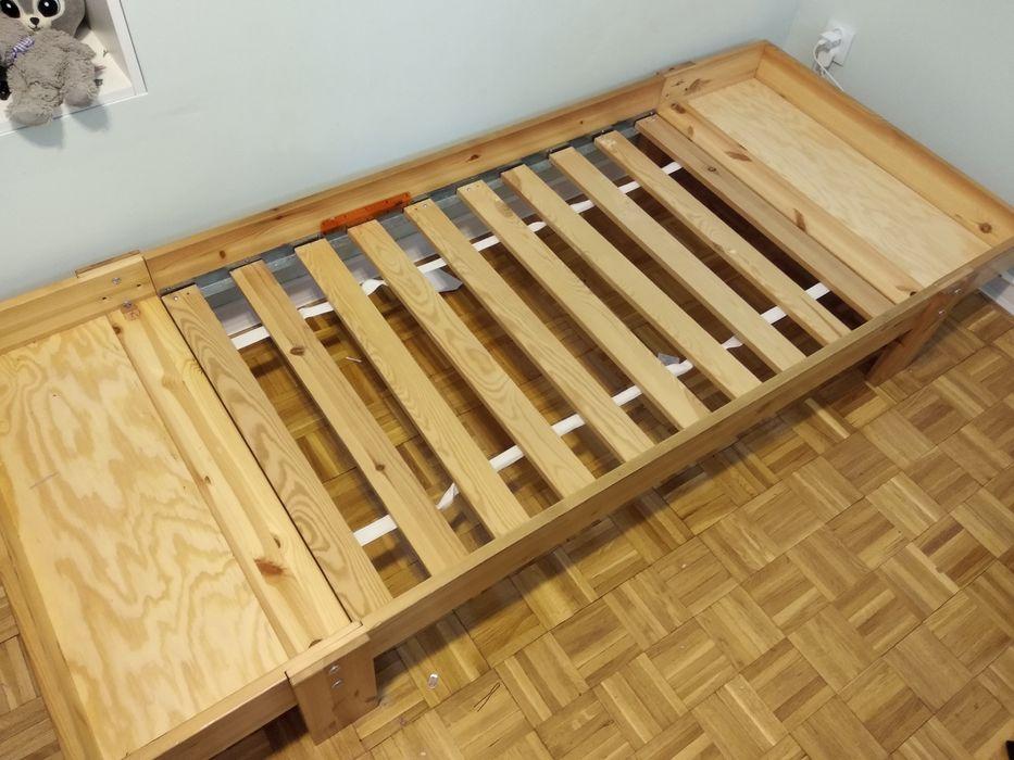 Łóżko dziecięce z materacem IKEA rośnie z dzieckiem Jasło - image 1