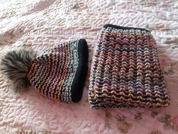 Komplet zimowy czapka i komin