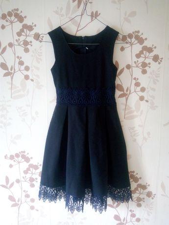 Школьная форма, сарафан для девочки. Тёмно-синий.