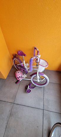Rowerek dziewczęcy Sisi 4-8 lat prawie nowy