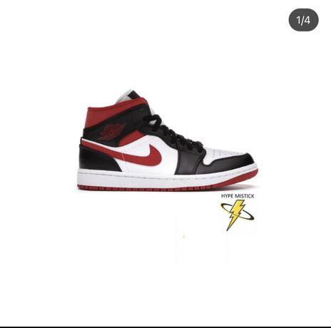 Jordan 1 mid Gym red Black White 40 e 43