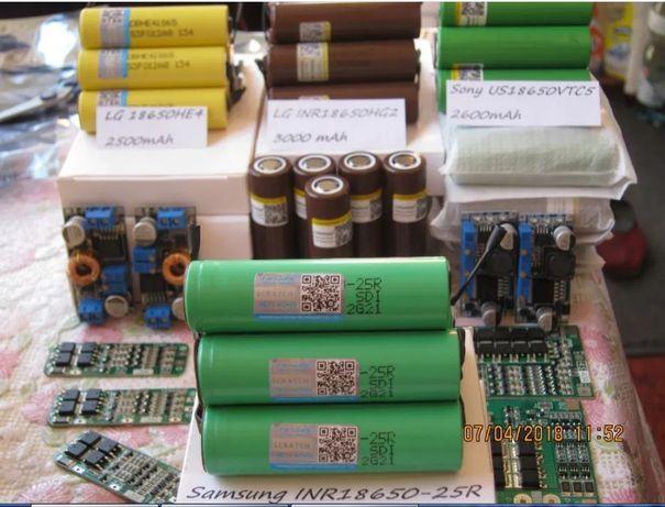 высокотоковые аккумуляторы INR 18650 25R