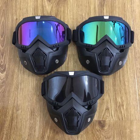 Очки-маска,мото,вело,сноуборд,лыжи,скейтборд,квадроцикл!