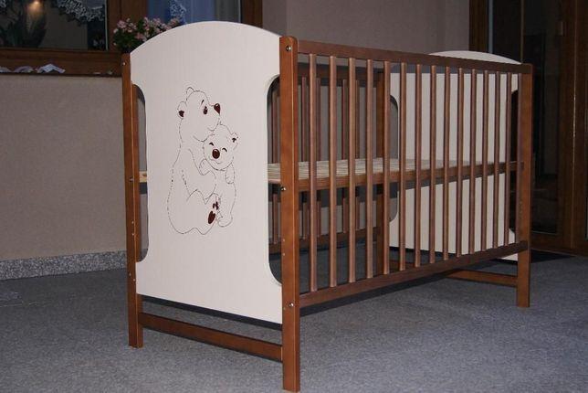 Łóżeczko dziecięce drewniane Jaś Orzech Nowe