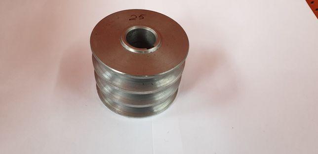 Шкив 3-х ручейный на мотоблок 25 мм посадочное. Наружный диаметр 84 мм