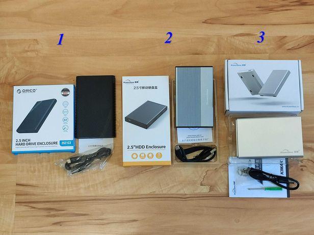 """Внешний карман для HDD/SSD до 9 и 15 мм 2,5"""" SATA на USB 3.1 и Type-C"""