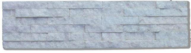 Panel elewacyjny/ścienny ŁUPEK Kwarcyt biały 6P - White - 15x60x1,5 cm
