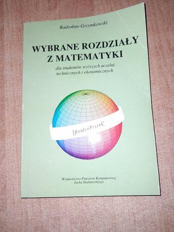 Wybrane rozdziały z matematyki dla studentów wyższych uczelni...