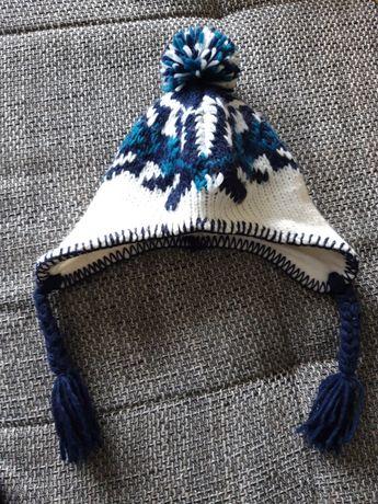 Czapka zimowa czapeczka ocieplana niemowlęca 0-12 miesięcy