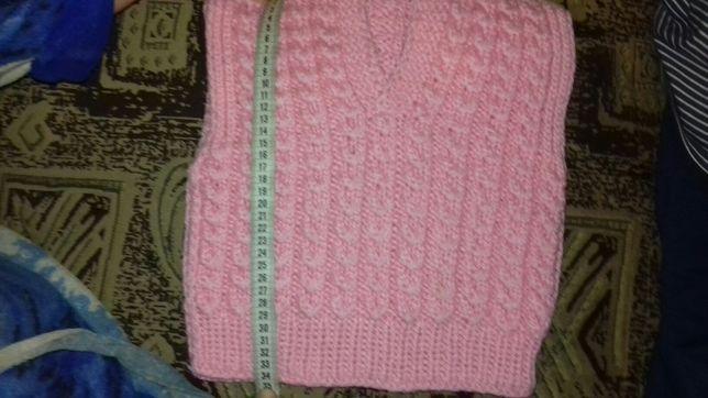 Безрукавка розовая