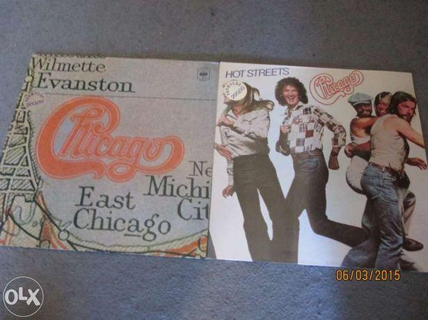 3 Discos de vinil dos chicago - hot street ; chicago xi ; Greatest hit