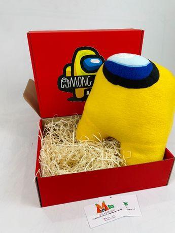Мягкая игрушка Among Us Космонавт Амонг Ас подарок для ребенка Желтая