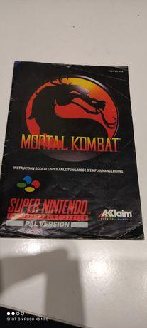 Mortal Kombat SNES instrukcja, manual książeczka