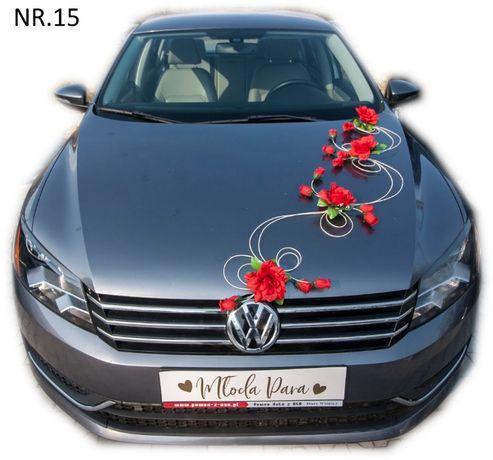Dekoracja samochodu ozdoba na auto do ślubu NR.15 DOWOLNA KOLORYSTYKA