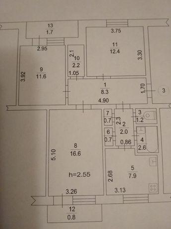 Продажа 3х комнатной квартиры (+ участок застр. огород