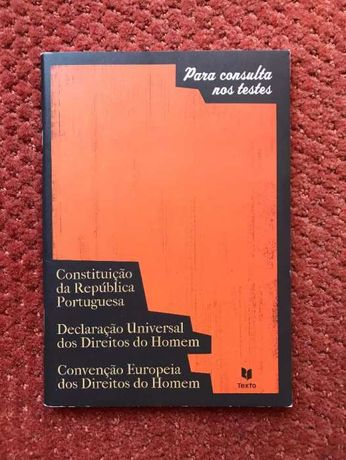 Para consulta nos testes Constituição da República Portuguesa