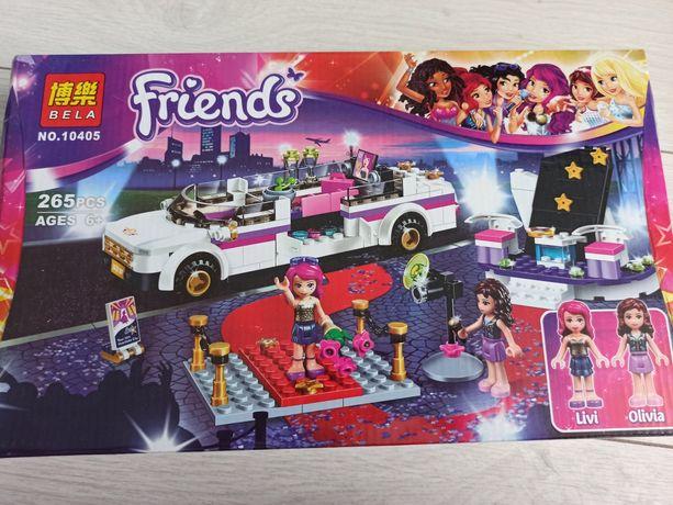 Детский Развивающий Конструктор для девочек Bela Friends Лимузин поп-з